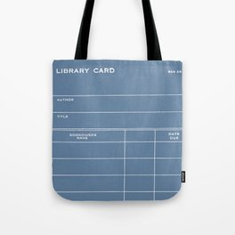 Library Card BSS 28 Negative Blue Tote Bag