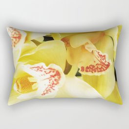Yellow Orchids Rectangular Pillow
