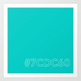 #7CDC60 [hashtag color] Art Print