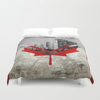 canada Duvet Covers featuring Flags - Canada by Ale Ibanez
