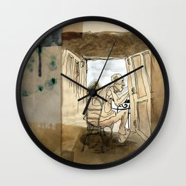 The Black House on the Hill Wall Clock