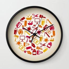 Art a circle Wall Clock