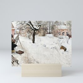 Carl Larsson Open-Air Painter. Winter-Motif from Åsögatan 145, Stockholm Mini Art Print