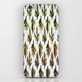 Boho Feather Pattern iPhone Skin