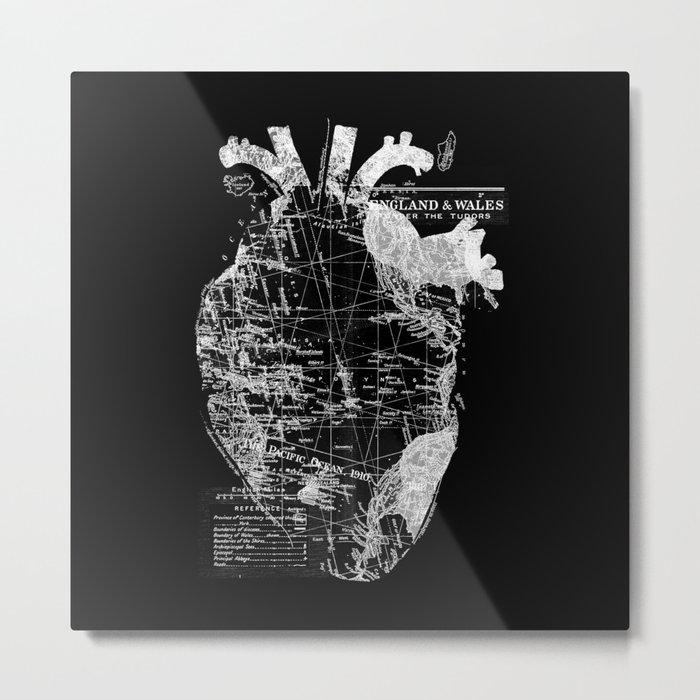 Heart Wanderlust Metal Print