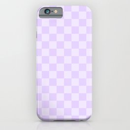 Large Chalky Pale Lilac Pastel Checkerboard iPhone Case