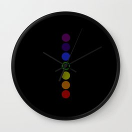 Chakra Yoga body circles meditation black colored heal Wall Clock
