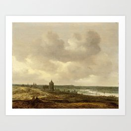 Jan van Goyen - View of Arnhem Art Print