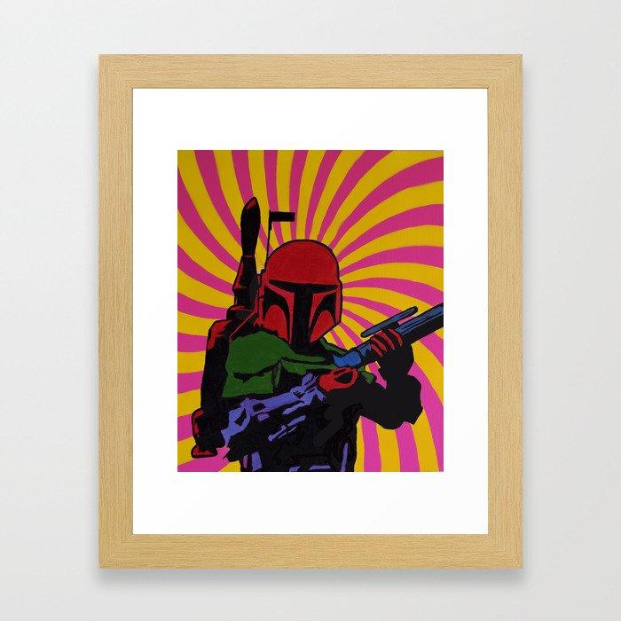 The Boba Fett Experience  Framed Art Print