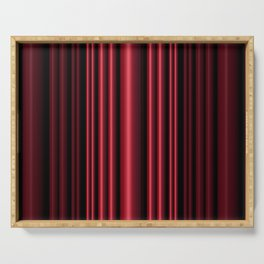 Red 3D Stripes Serving Tray