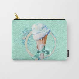Blue Sugar Icecream Cone Carry-All Pouch