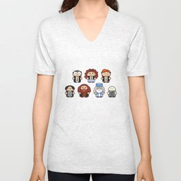 Harry and his Friends Patterned Unisex V-Neck