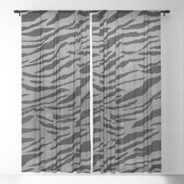 Tiger Animal Print Glam #4 #pattern #decor #art #society6 Sheer Curtain