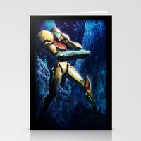 samus Stationery Cards featuring Samus by Louten