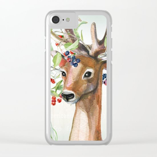 Winter animal #4 Clear iPhone Case