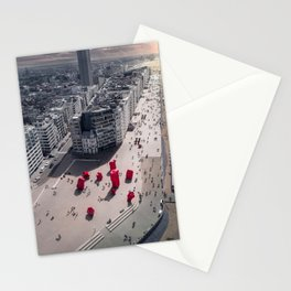 Oostende promenade, Belgium Stationery Cards