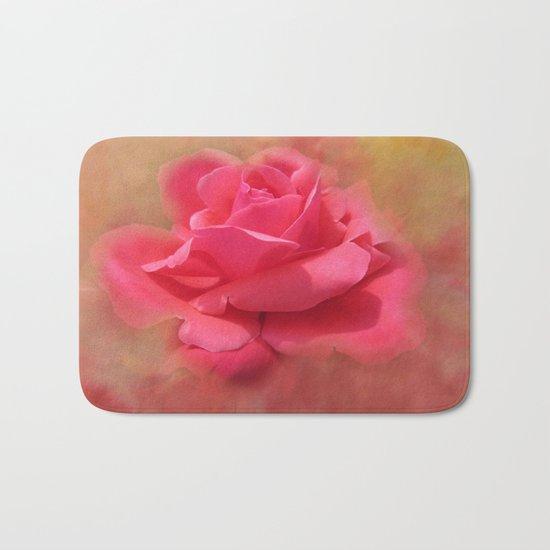 Enchanting Elegant Rose Bath Mat