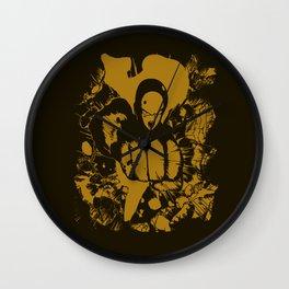The Yellow Straight Wall Clock