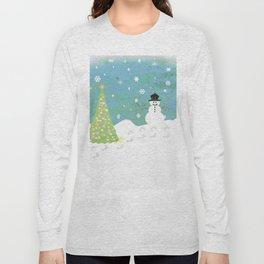 Snowman on Christmas Day Long Sleeve T-shirt