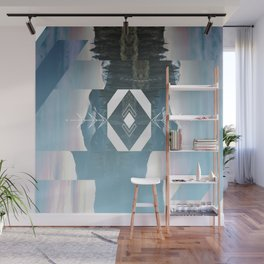 Abstract Mountain Wall Mural
