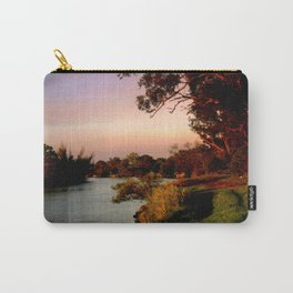 Reflecting sunset on the river Bank Carry-All Pouch