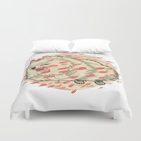 pomeranian Duvet Covers featuring Pomeranian in Autumn by Jack Haughey