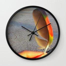 Rainbow Feather Wall Clock