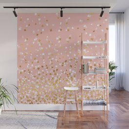 Floating Confetti - Pink II Wall Mural