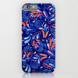 Multicolored Watercolor Paisley Florals iPhone Case