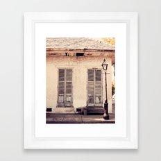 Old Shutters Framed Art Print