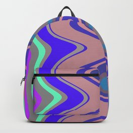 Distorted stripes in colour 5 Backpack