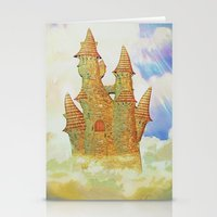 castle in the sky Stationery Cards featuring castle in the sky by Ancello