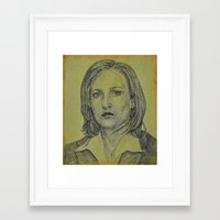 scully Framed Art Prints featuring Scully by Jenn
