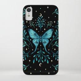 Mystical Luna Moth - Turquoise iPhone Case