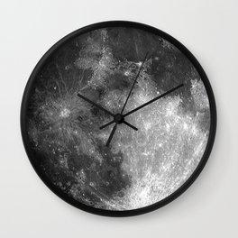Black & White Moon Wall Clock