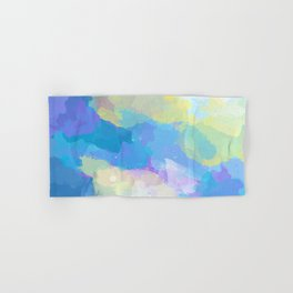 Colorful Abstract - blue, pattern, clouds, sky Hand & Bath Towel