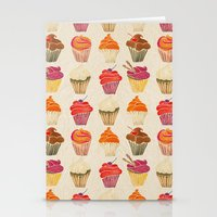 cupcakes Stationery Cards featuring Cupcakes by Cat Coquillette