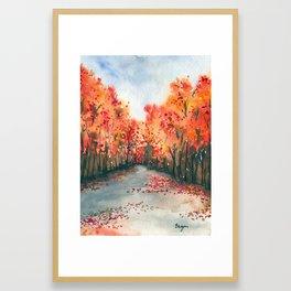 Autumn Journey Framed Art Print