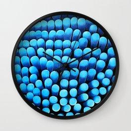 Blue Shag Wall Clock