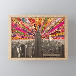 BLOOMING NY Framed Mini Art Print