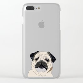 Pug Puppy Clear iPhone Case