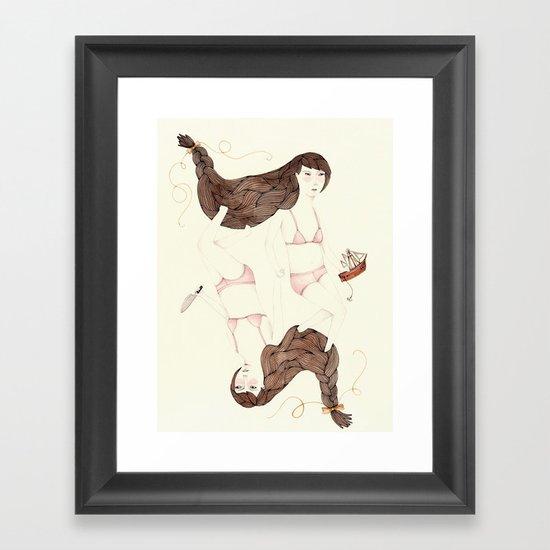 Twisted Sister Framed Art Print