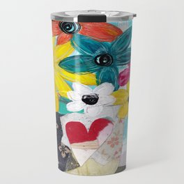 PATCHWORK VASE Travel Mug