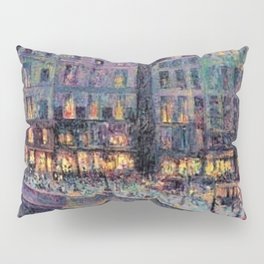 Paris - Le quai Conti along the River Seine by Maximilien Luce Pillow Sham