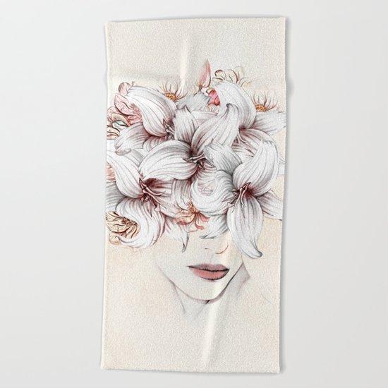 Flowers Women 23 Beach Towel