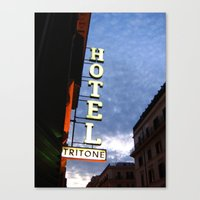 neutral milk hotel Canvas Prints featuring Hotel by constarlation