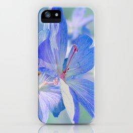 FLOWERS - Geranium endressii iPhone Case