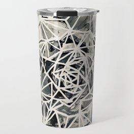 Merrybell Succulent Black-White Print Travel Mug