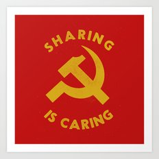 Sharing Is Caring Art Print