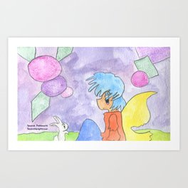 Bunny and Faerie Art Print